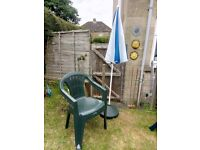 Free to collect today Garden umbrella with stand