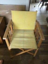 Yellow director's chair canvas