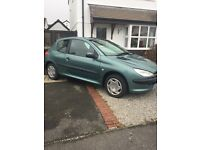 Green Peugeot 206 1.4 3dr ONLY 82,000 miles