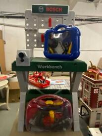 Kids toy BOSCH work station, tools and kit