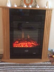 Almost new fire and surround