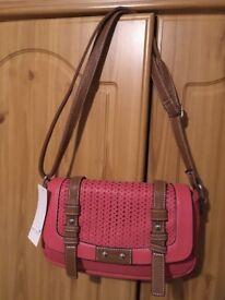 Brand new with tag Per Una ladies coral/brown handbag