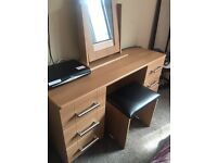 Dressing table with mirror and stool from starplan bedroom furniture