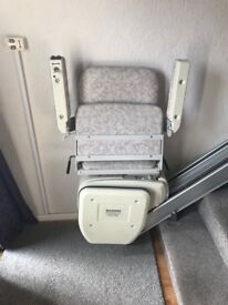 Stairlift for straight Staircase in good working order. Mains powered, easy to install
