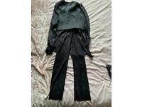Black bat man costume