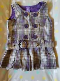 Girls pinafore dress 6-12m
