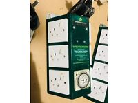 Cheshunt Hydroponics Store - used 6 way Green Power timer contactor unit