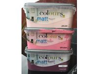 1/2 tubs of paint