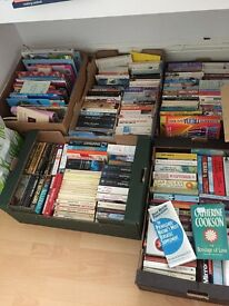 Boxes of mixed books
