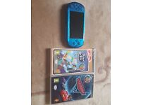 RARE PSP Metallic Blue With 2 Top Games !