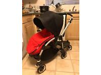 Bugaboo Bee+ with buggy board, footmuff and raincover.