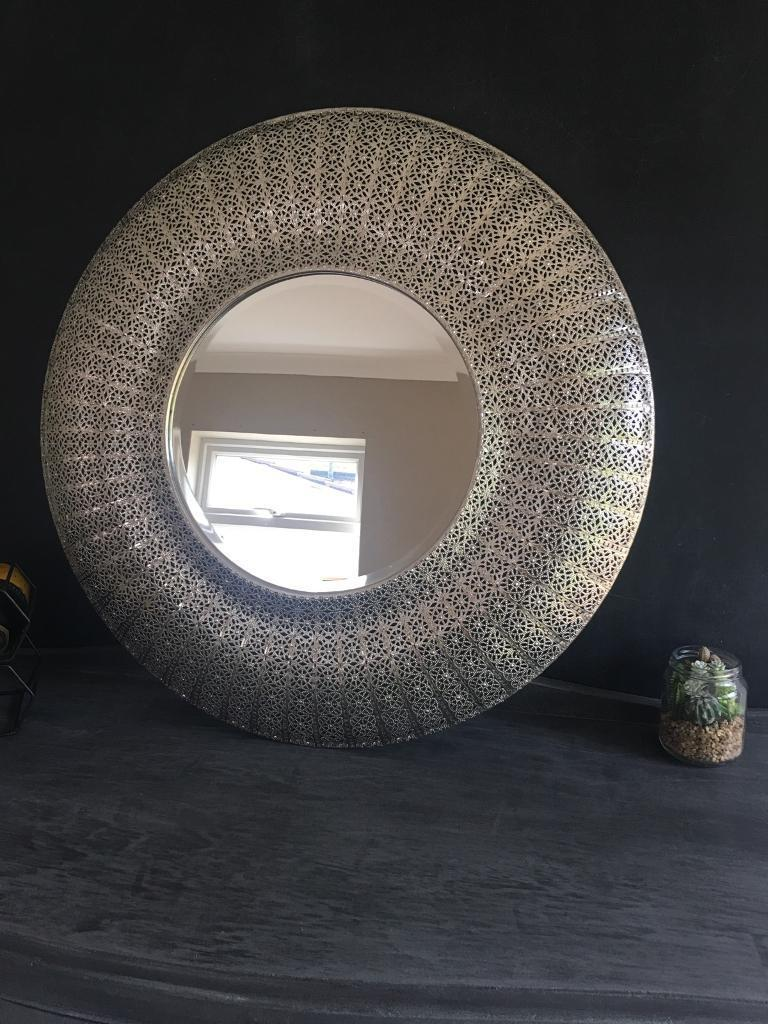 Large Round Moroccan Mirror