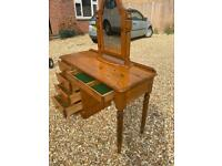 Ducal solid pine dressing table with mirror. Dovetail Joints. Possible delivery
