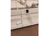 2 sets of PVC slatted window blinds