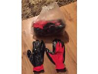 12 pairs of work gloves stretchable latex coated