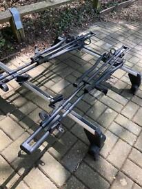 VW Roof Bars for 5dr Golf Mk4 (inc 2 Thule bike racks (need love)