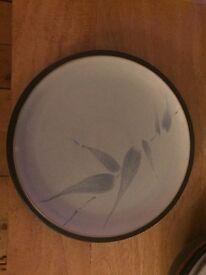 Denby side plate - blue & white