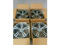 "SET OF 4 - 19"" STAGGERED BMW M3 M4 M5 STYLE ALLOY WHEELS / 5x120 / 313 / MV4 / E90 / F30"