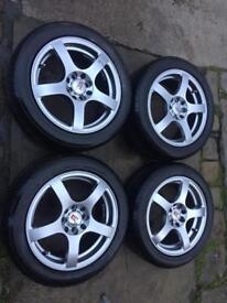 KEI RACING 4x100 / 4x108 Alloys/Tyres Nearly Nee