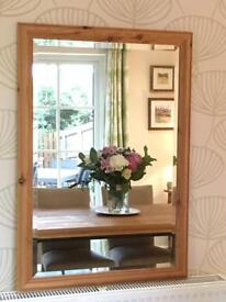 Large Pine Frame Mirror. Perfect condition