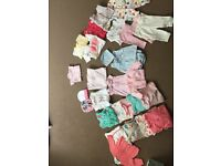 Baby bundle girls first size up to 1 month
