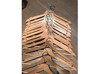 Wooden coat hangers x15