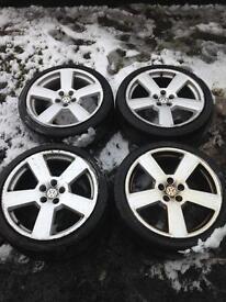 Vw Golf / Audi A3 five spoke 18'inch Alloy Wheels
