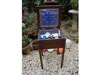 Small Vintage Sewing Box,With Contents.