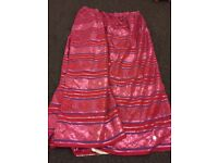 FREE 90 x 90 linded curtains pink/red/purple/silver