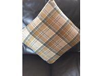 2 Matching Tartan Cushions