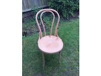 Wooden bistro chairs various
