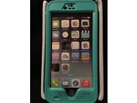 Ghosted atomic waterproof cover for Iphone6/6sPlus teal blue