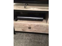 Grey & Black Wooden TV Storage Unit With Drawers Immaculate Condition
