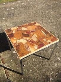 Solid Marble Side Table - 1970's