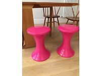 Two Tam Tam pink stool seat with storage from Habitat