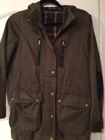 Size 8 topshop Parker coat