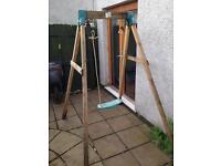 TP Kids wooden swing with both baby seat and kids seat
