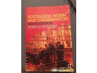 Sociology, work and organisation 6th edition textbook - £20, great condition