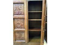 Beautiful Large OAK Cabinet - Forest carved - Cupboard Storage Larder - Wardrobe - Handmade