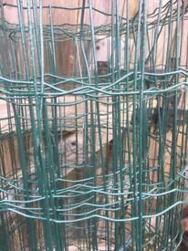 Green metal garden mesh