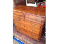 Chest of drawers and dressing table-antique pine (victorian)