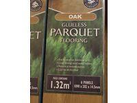 Real Oak Glueless Parquet Engineered Wood Flooring