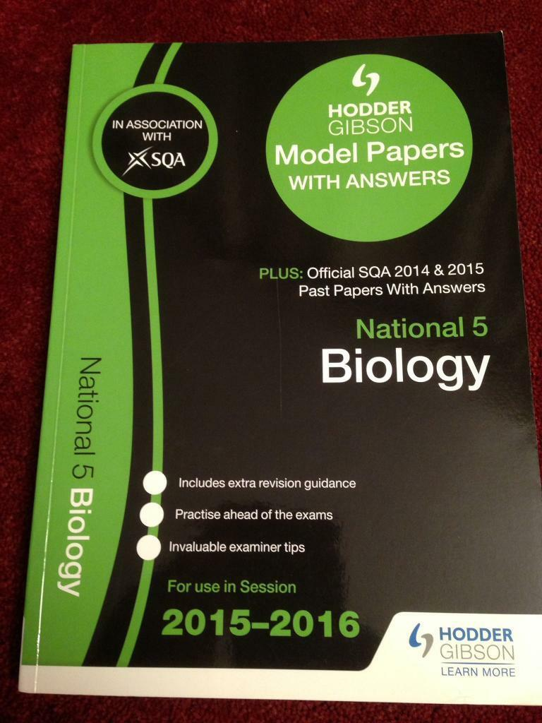 National 5 Biology Model Papers