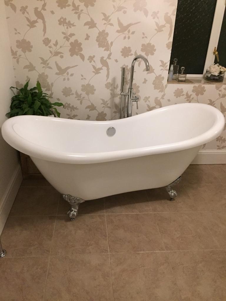 Roll top bath white 1700mm long (please see description)