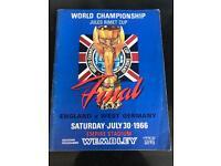 1966 World Cup final programme + 4 stubs