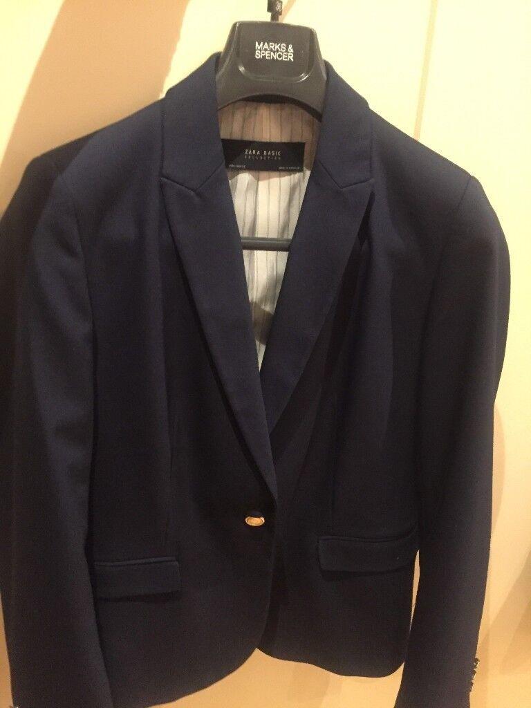 Women's Zara blazer - colour Navy - Size L (UK 14)