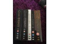 Game of Thrones seasons 1-5 Dvds