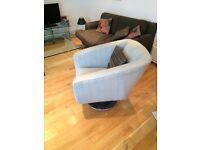 Grey retro arm-chair