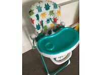 Cosatto Highchair (Like new) little boys monster chair