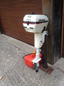 Johnson 4hp twin-cylinder, 2-stroke outboard motor